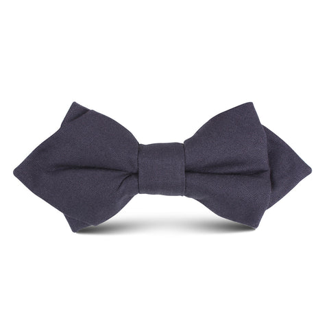 Navy Blue Cotton Kids Diamond Bow Tie