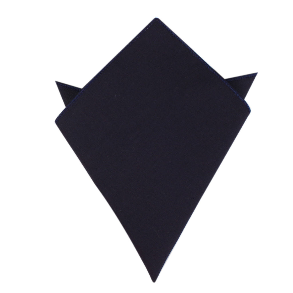 Navy Blue Cotton Pocket Square