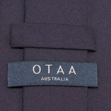 Navy Blue Cotton Skinny Tie OTAA Australia