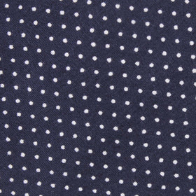 Navy Blue Cotton with White Mini Polka Dots Kids Bow Tie