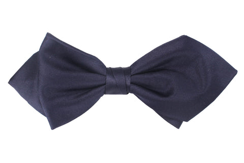 Navy Blue Diamond Bow Tie