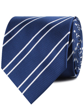 Navy Blue Double Stripe Necktie
