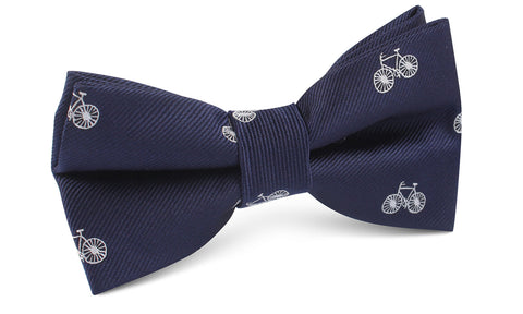 Navy Blue French Bicycle Bow Tie