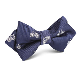 Navy Blue French Bicycle Diamond Bow Tie