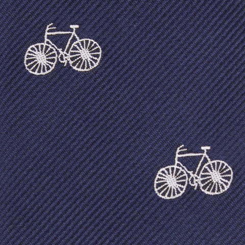 Navy Blue French Bicycle Kids Bow Tie