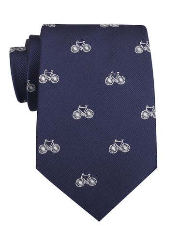 Navy Blue French Bicycle Necktie