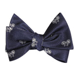 Navy Blue French Bicycle Self Tie Bow Tie 2
