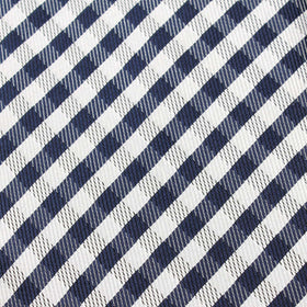 Navy Blue Gingham Pocket Square