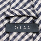 Navy Blue Gingham Necktie Back
