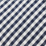 Navy Blue Gingham Necktie Fabric