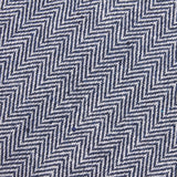 Navy Blue Herringbone Linen Skinny Tie Fabric