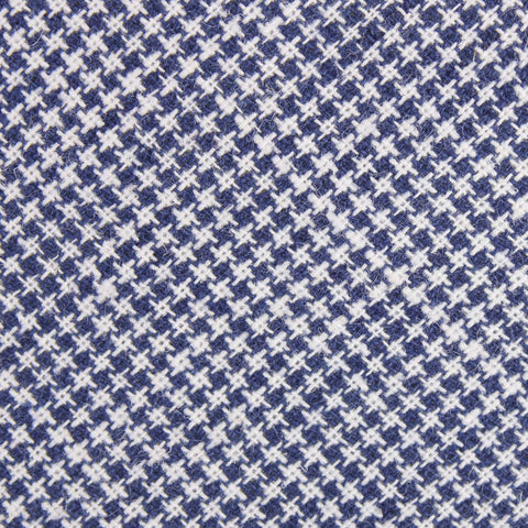 Navy Blue Houndstooth Linen Kids Bow Tie