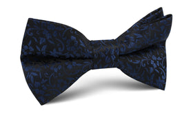 Navy Blue Liberty Floral Bow Tie