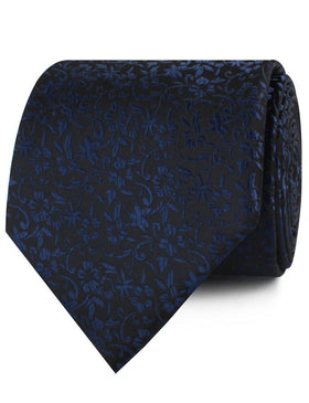 Navy Blue Liberty Floral Necktie
