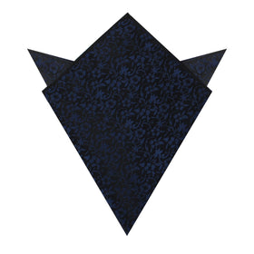 Navy Blue Liberty Floral Pocket Square