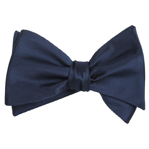 Navy Blue Line - Bow Tie (Untied)
