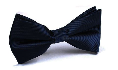 Navy Blue Line - Bow Tie