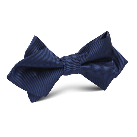Navy Blue Line Diamond Bow Tie