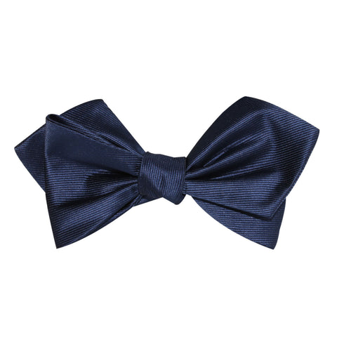 Navy Blue Line Self Tie Diamond Tip Bow Tie