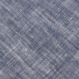 Navy Blue Linen Chambray Fabric Necktie L037