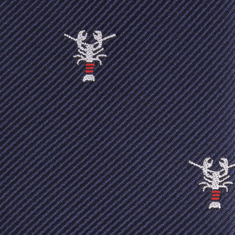 Navy Blue Lobster Bow Tie