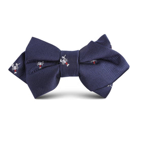 Navy Blue Lobster Kids Diamond Bow Tie