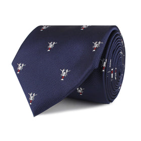 Navy Blue Lobster Necktie