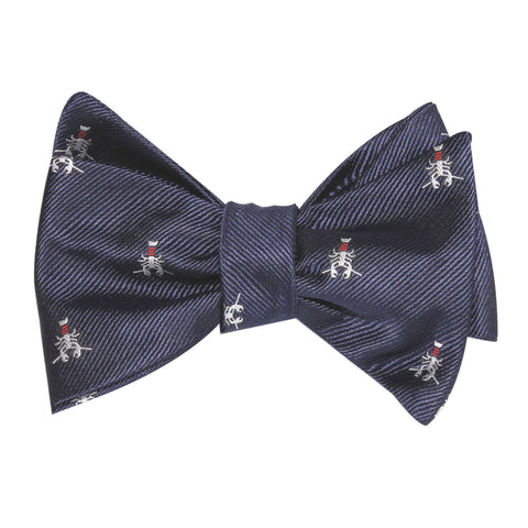 Navy Blue Lobster Self Tie Bow Tie