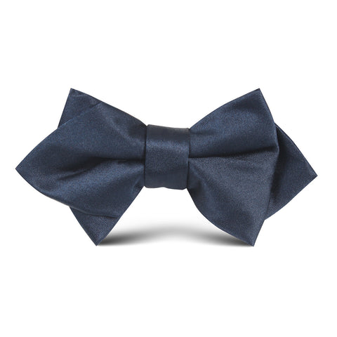 Navy Blue OTAA Kids Diamond Bow Tie