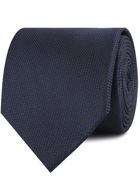 Navy Blue Oxford Stitch Necktie