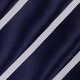 Navy Blue Pencil Stripe Kids Bow Tie
