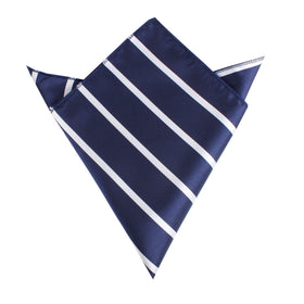Navy Blue Pencil Stripe Pocket Square