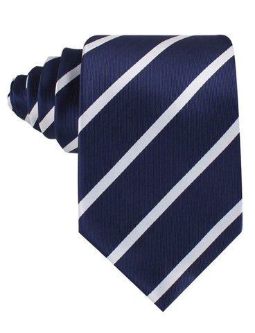 Navy Blue Pencil Stripe Tie