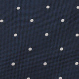 Navy Blue Polka Dots Fabric Bow Tie X517