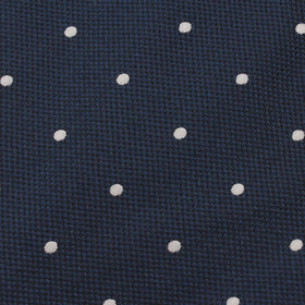 Navy Blue with White Polka Dots Bow Tie Untied X517 OTAA