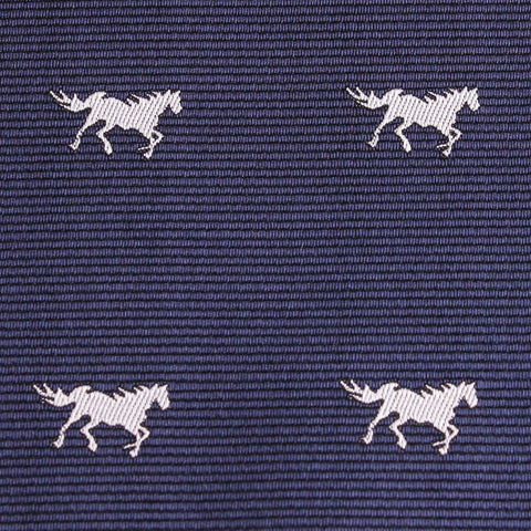 Navy Blue Race Horse Kids Bow Tie