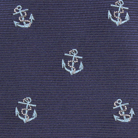 Navy Blue Sail Anchor Bow Tie