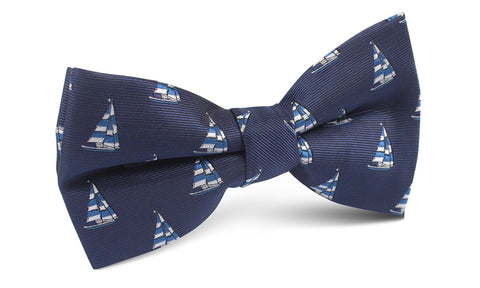 Navy Blue Sailor Boat Bow Tie
