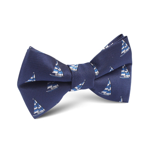 Navy Blue Sailor Boat Kids Bow Tie