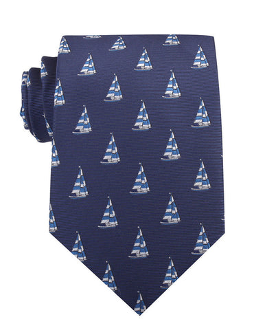 Navy Blue Sailor Boat Necktie