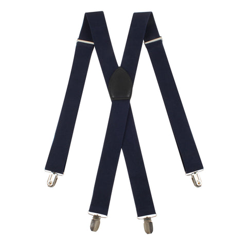 Navy Blue Suspender Braces