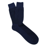 Navy Blue Textured Cotton-Blend Stylish Mens OTAA Socks