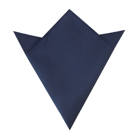 Navy Blue Weave Pocket Square