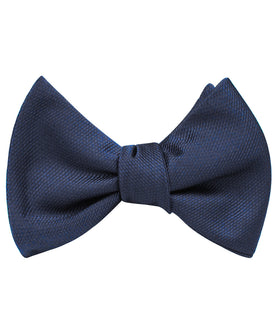 Navy Blue Weave Self Bow Tie