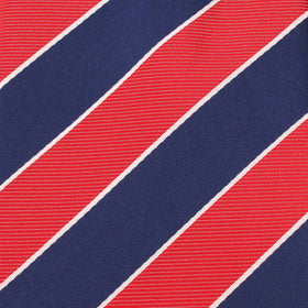 Navy Blue White and Red Diagonal - Bow Tie