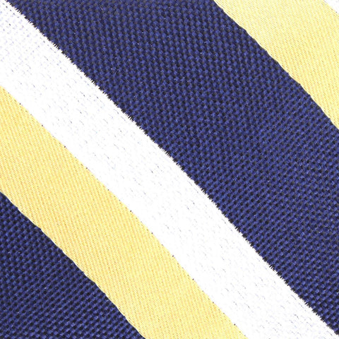 Navy Blue & Yellow Stripe Bow Tie