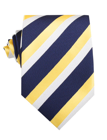 Navy Blue & Yellow Stripe Necktie
