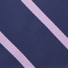 Navy Blue with Lavender Purple Stripes Bow Tie