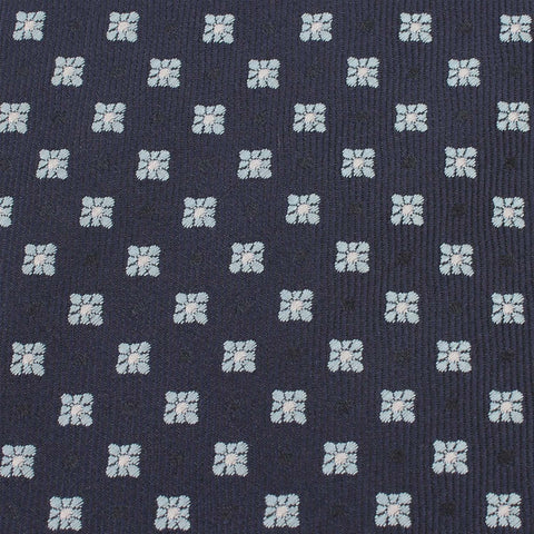 Navy Blue with Light Blue Pattern - Bow Tie