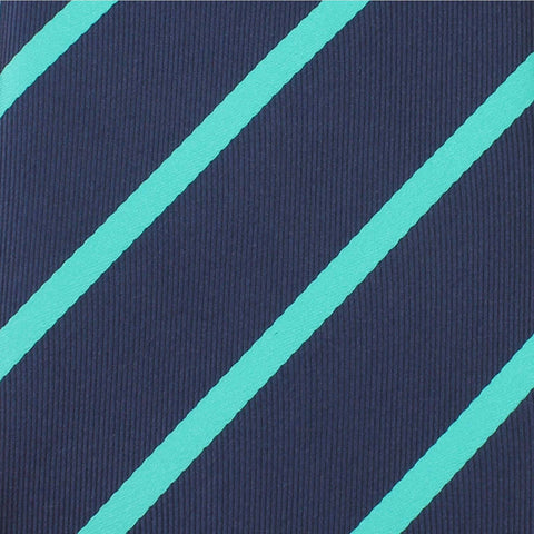 Navy Blue Bow Tie with Teal Stripe